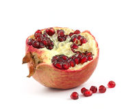 Pomegranate. Fruit isolated on white background stock photography