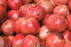 Pomegranate. S at the market stock photography
