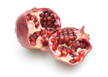 Pomegranate. On a white background royalty free stock photo