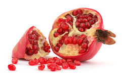 Pomegranate. Isolated on the white Stock Images