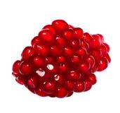 Pomegranate. Macro pomegranate  on  white background Royalty Free Stock Images