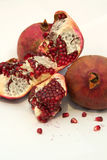 Pomegranate. Macro of a Pomegranate on White Stock Images