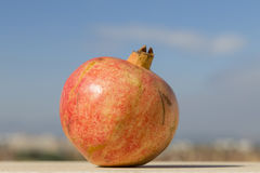 Pomegranate against the sky Royalty Free Stock Images