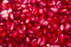 Pomegranate arils. A close up of a pile of pomegranate arils royalty free stock photo