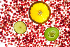 Pomegranate background Stock Photo