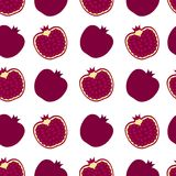 Pomegranate background. Seamless pattern with pomegranate. Flat Stock Photography