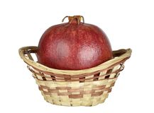 Pomegranate in the basket Stock Image