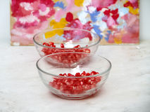 Pomegranate beans Stock Image