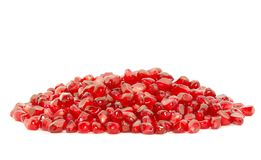 Pomegranate berries. Some pomegranate berries isolated on the white background Stock Photos
