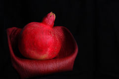 Pomegranate on Black Royalty Free Stock Images
