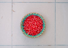 Pomegranate in a bowl Royalty Free Stock Photography