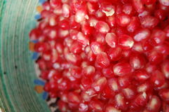 Pomegranate in a bowl Royalty Free Stock Photos
