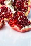 Pomegranate. Bright pomegranate on white background Royalty Free Stock Photos