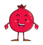 Pomegranate cartoon character Royalty Free Stock Image