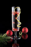 Pomegranate Champagne Cocktail Royalty Free Stock Image