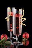Pomegranate Champagne Cocktail Stock Photo