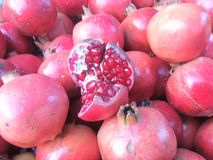 Pomegranate seeds. Close up of pomegranate seeds royalty free stock images