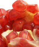 Pomegranate, close-up. Macro photo of pomegranate fruit stock photos