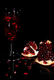 Pomegranate cocktail Royalty Free Stock Photos