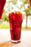 Pomegranate cocktail juice Stock Photography