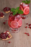 Pomegranate cocktail Stock Photo