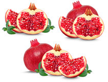 Pomegranate collection Stock Photos