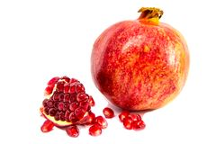 Pomegranate collection Isolated on a white background. Clipping Path royalty free stock photography