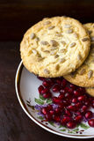 Pomegranate and cookies Royalty Free Stock Photos