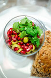 Pomegranate and coriander salad Royalty Free Stock Image