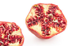 Pomegranate cross section Royalty Free Stock Photos