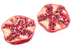 Pomegranate cross section Stock Photos