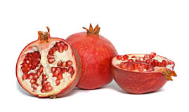 Pomegranate cross-sections royalty free stock photos