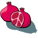 Pomegranate Cut Royalty Free Stock Photos