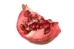 Pomegranate cut in half Stock Image