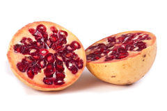 Pomegranate cut in Two Royalty Free Stock Photos
