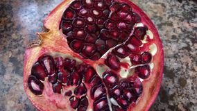 The pomegranate, delicious fruit. stock images