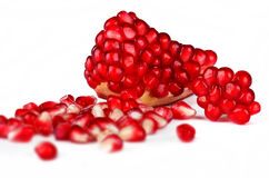 Pomegranate Detail Royalty Free Stock Photos