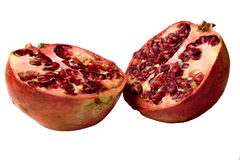 Pomegranate divided in half Stock Photography