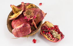 Pomegranate and dried fruit skin Stock Images
