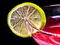 Pomegranate drink with green lemon 75 Stock Image