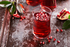Pomegranate drink with sparkling water Stock Photography