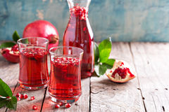 Pomegranate drink with sparkling water Royalty Free Stock Photo