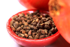 Pomegranate dry seeds Royalty Free Stock Images