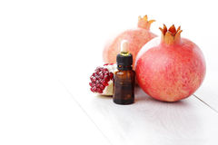 Pomegranate essential oil Royalty Free Stock Photos