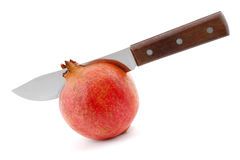 pomegranate för cuttingkniv Royaltyfri Foto
