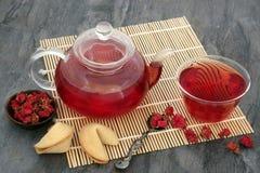 Pomegranate Flower Tea Stock Photo