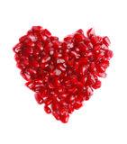 Pomegranate in the form of heart Royalty Free Stock Photo