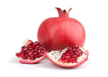 Pomegranate. Fresh pomegranate  on a white background Royalty Free Stock Images