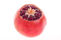 Pomegranate fruit. On a white background royalty free stock photography