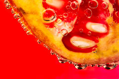 Pomegranate fruit with bubles Stock Images